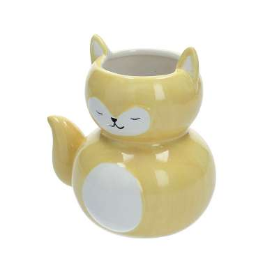 Yellow cat container