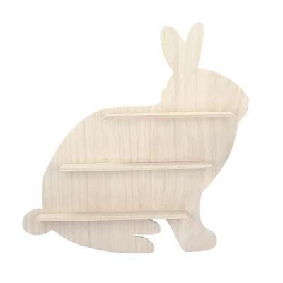 Wooden Rabbit shelf