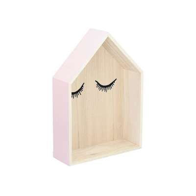 Wandregal Lovely House pink 42cm