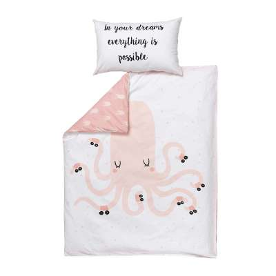 Pink Octopus bedding set 100x140cm