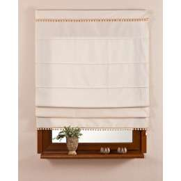 Padva roman blind with a bobble fringe
