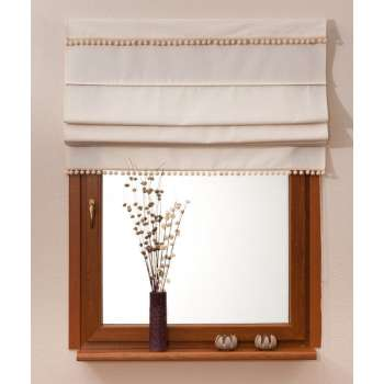 Padva roman blind with pompoms 160 x 170 cm (63 x 67 inch) in collection Jupiter, fabric: 127-00