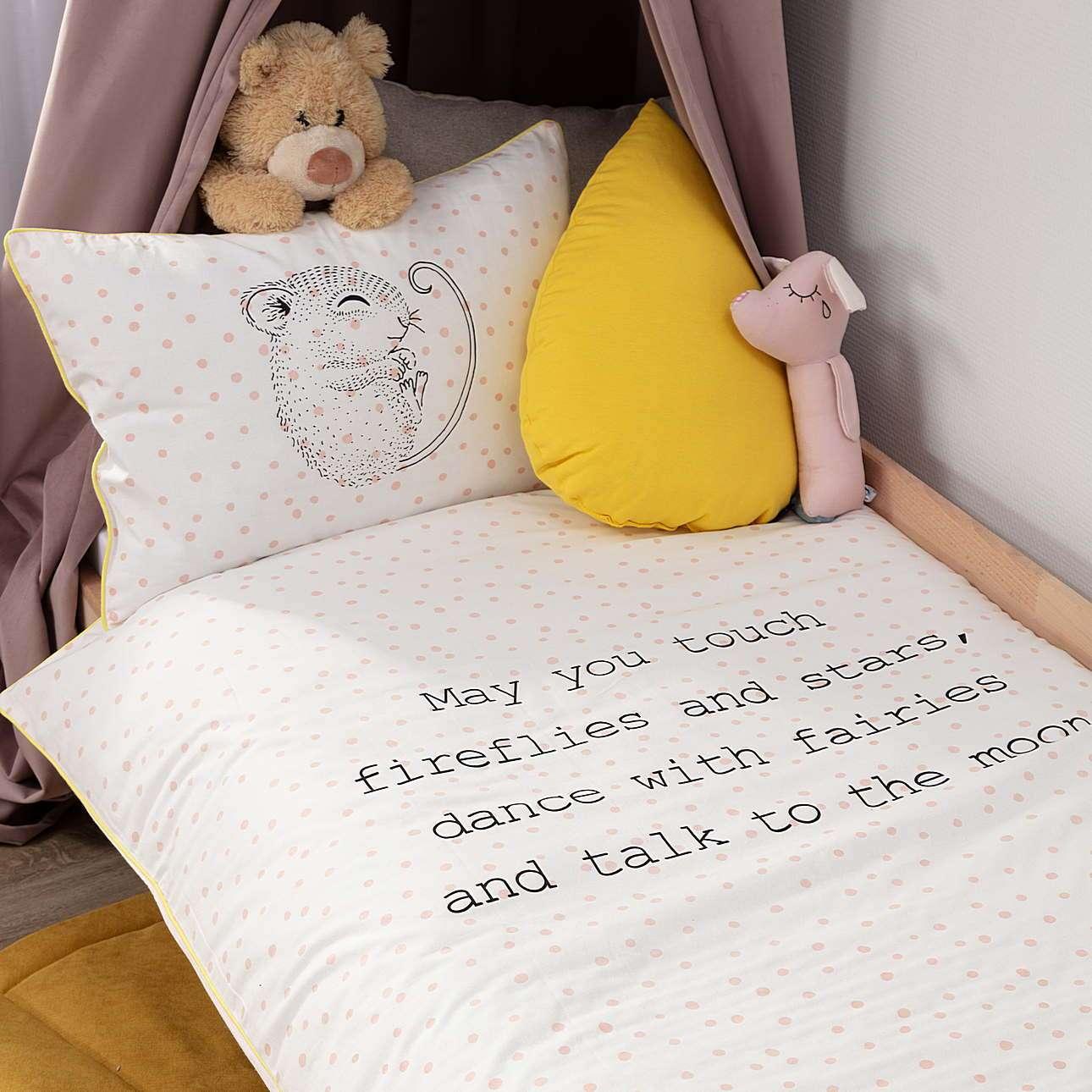 Bettwäsche Sleeping Mouse 100x140cm