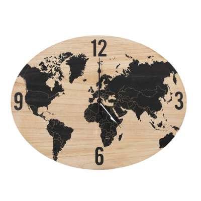 Uhr Globe 64x50cm