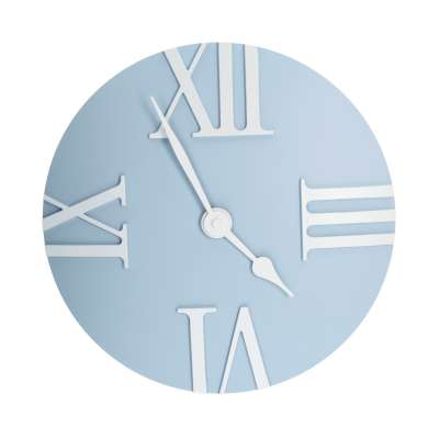 Retro light blue clock