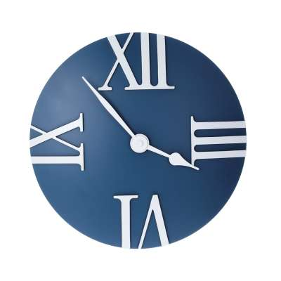 Uhr Retro blue