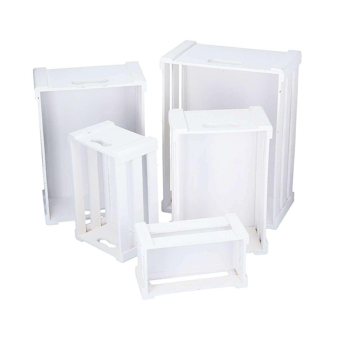 Medinė dėžė White 33.7cm