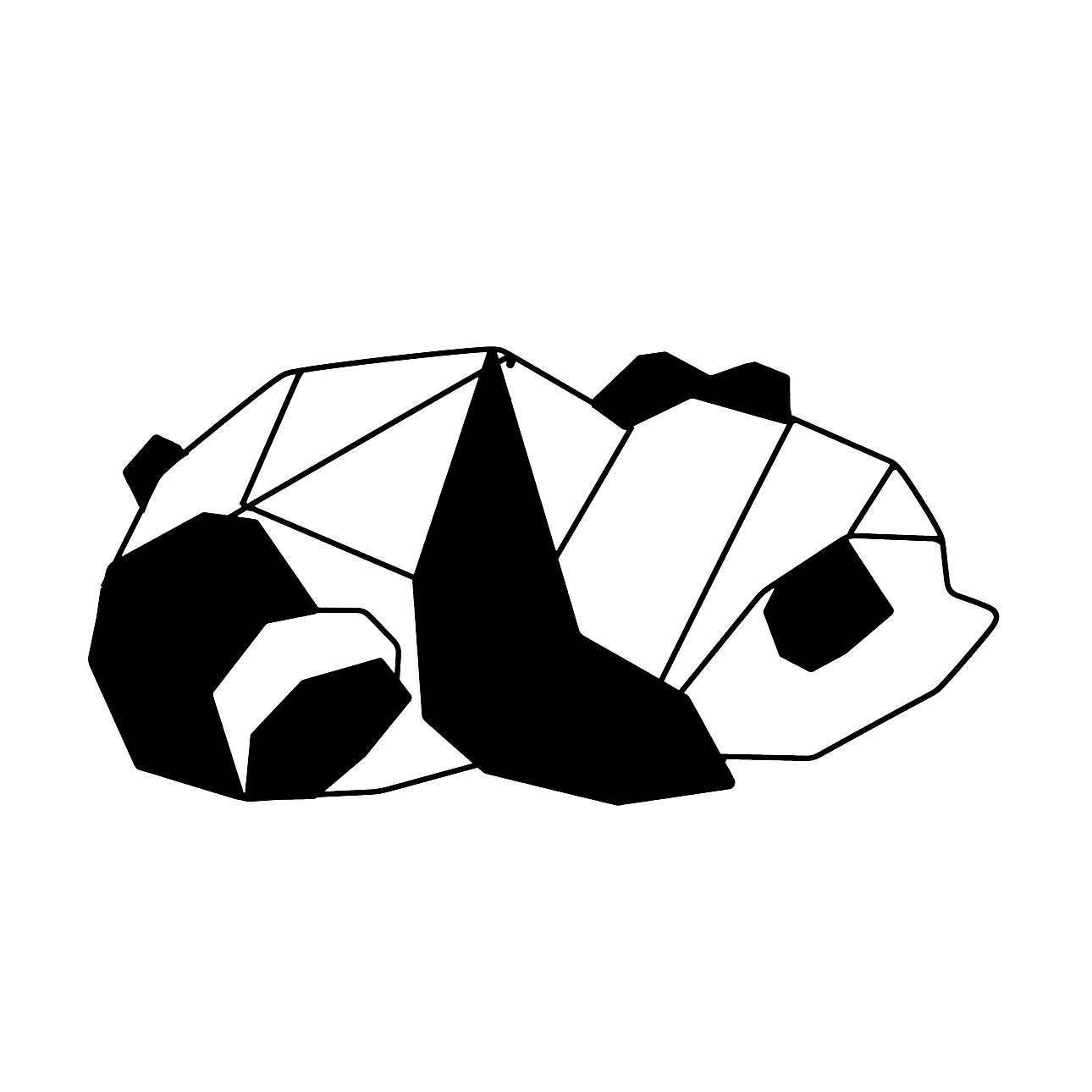 Dekoration Geometric Panda I
