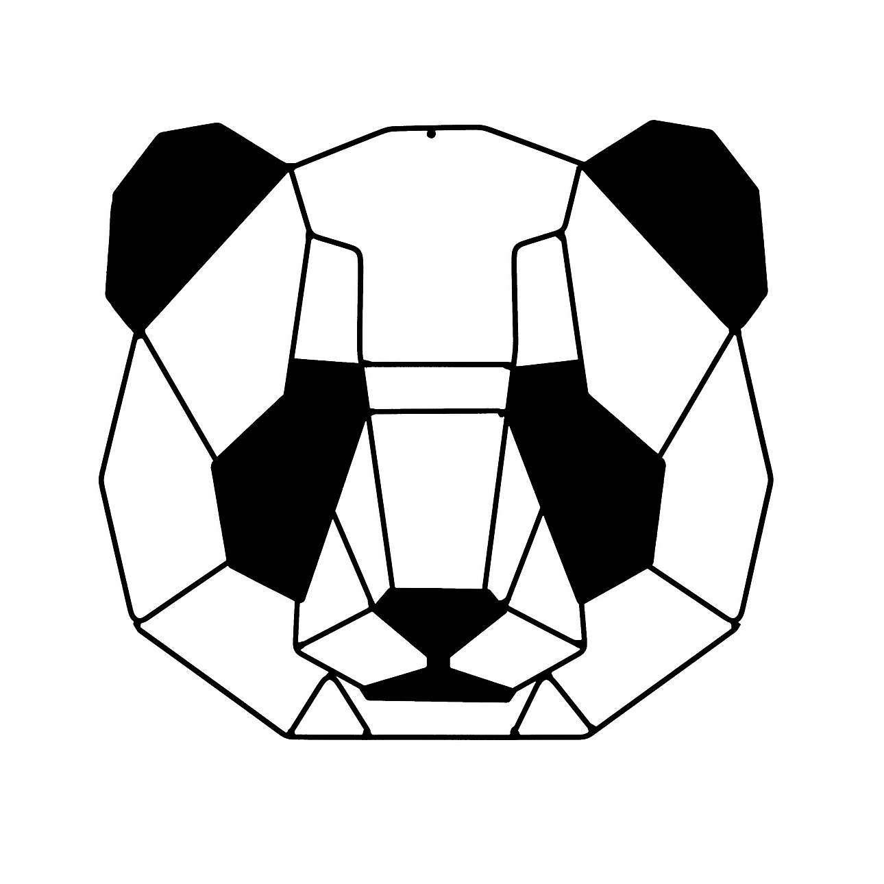 Geometric Panda II decoration