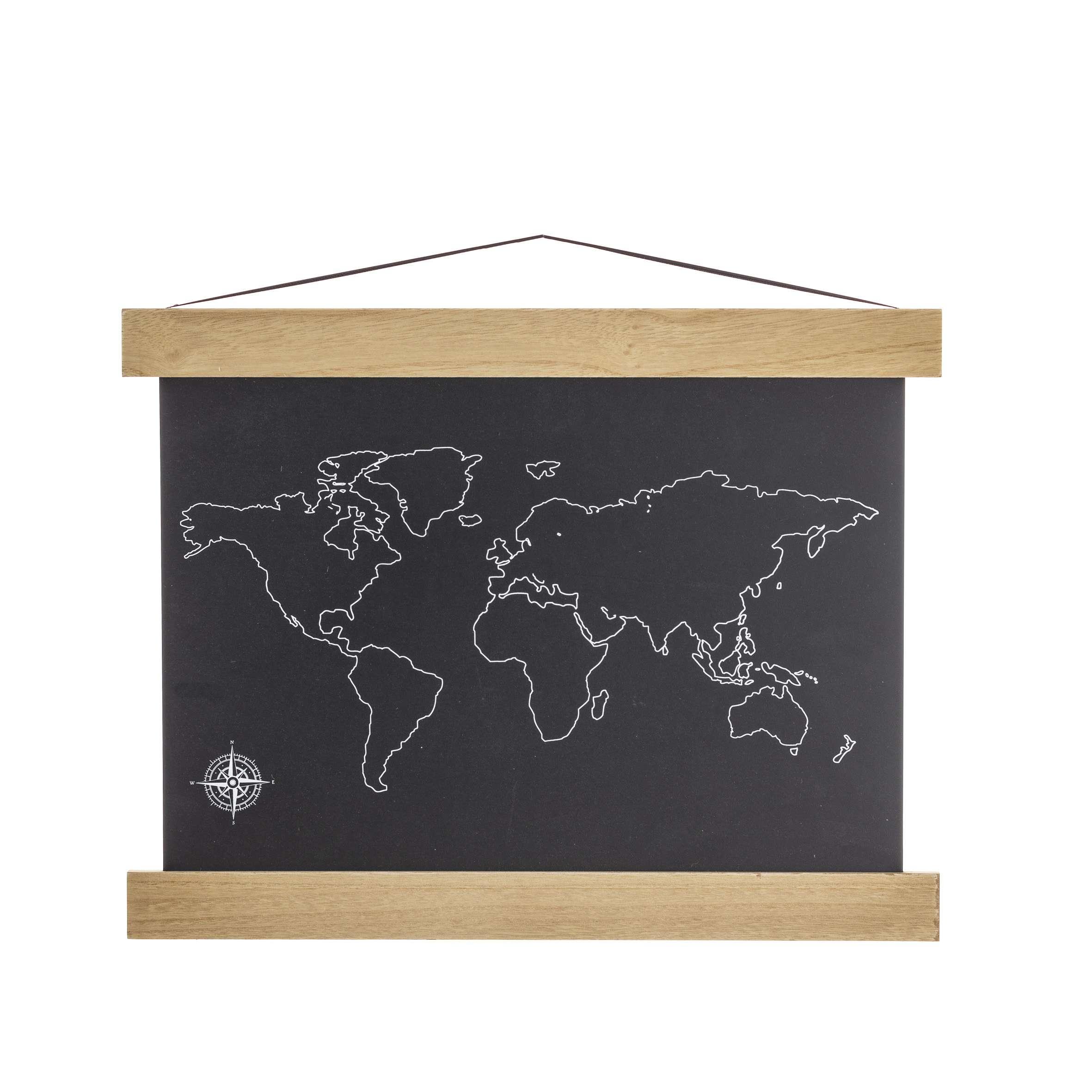 The Map chalkboard