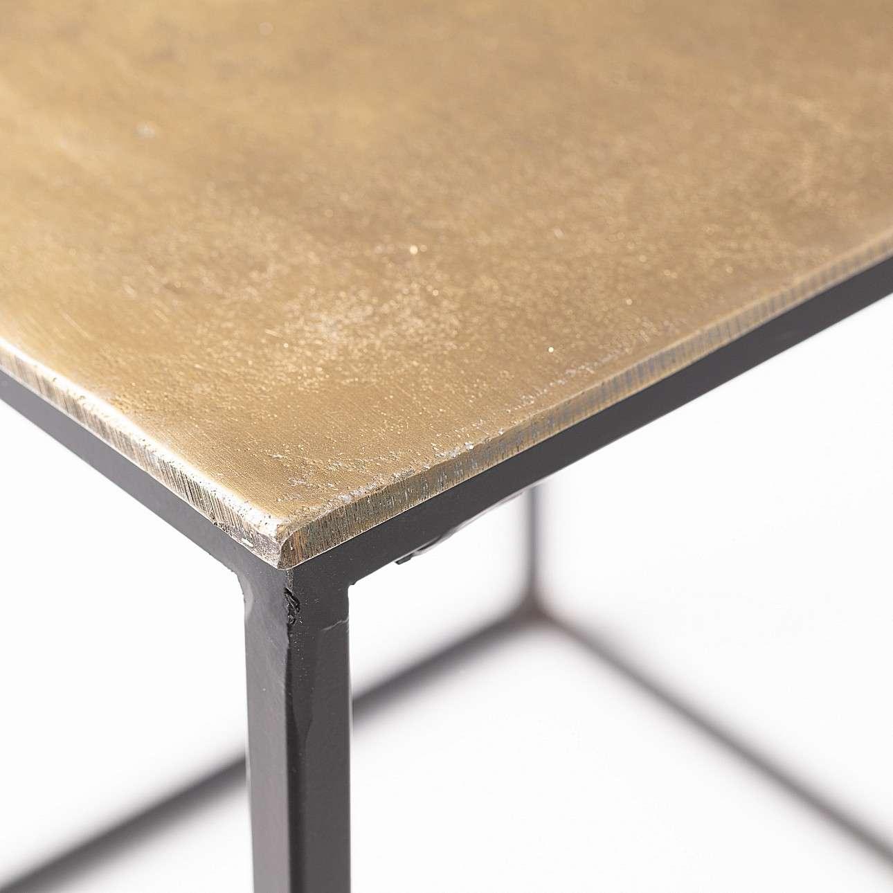 Komplet stolików Banos Gold 2 szt.