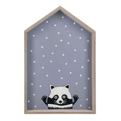 Wandregal Raccoon At Home