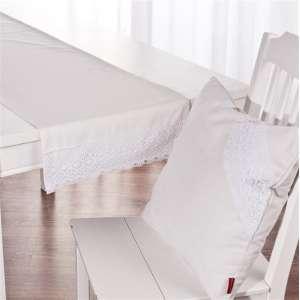 Tischläufer 40x130cm mit Bommeln 40x130cm von der Kollektion Loneta, Stoff: 133-02