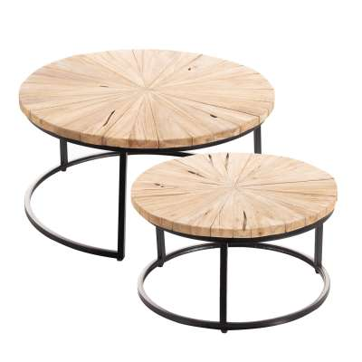 Bijzettafels Set Argenta 2 stuks Industriële meubels - Dekoria.nl