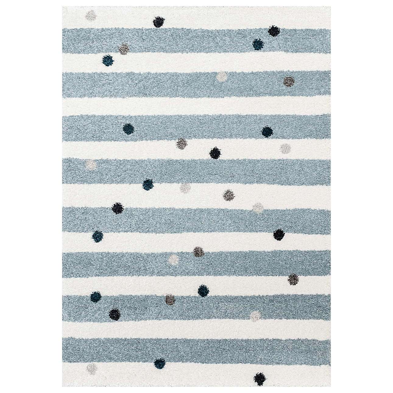 Stripes and Dots blue rug 160x230cm