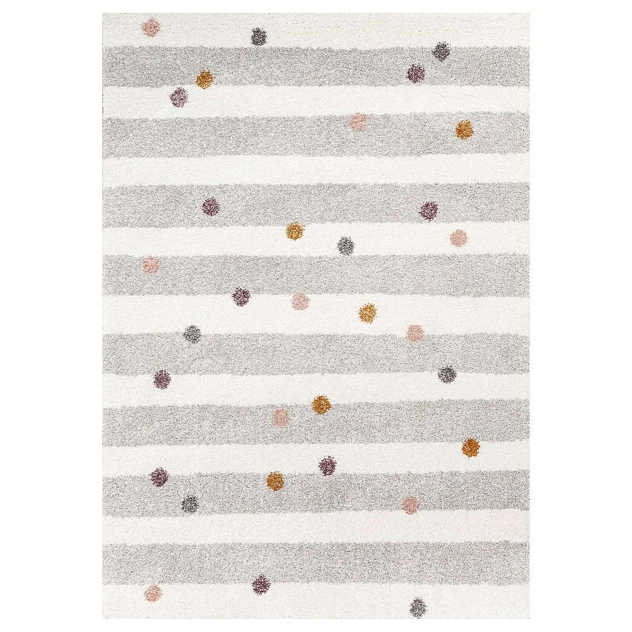 Stripes and Dots beige kilimas 160x230cm