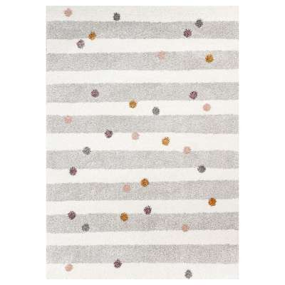 Stripes and Dots beige rug 160x230cm