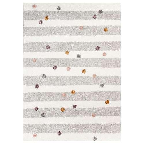 Koberec Stripes and Dots beige 120x170 cm