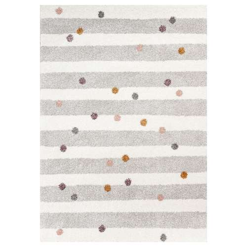 Stripes and Dots beige rug 120x170cm