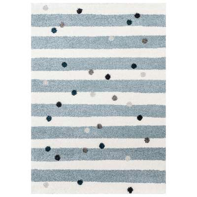 Stripes and Dots blue kilimas 120x170cm