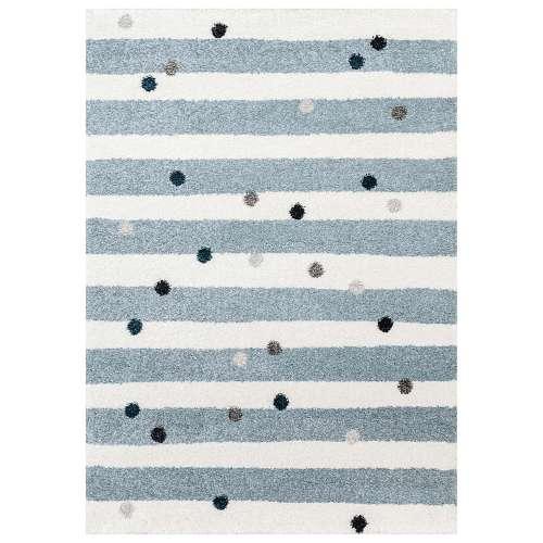 Teppich Stripes and Dots blue 120x170cm