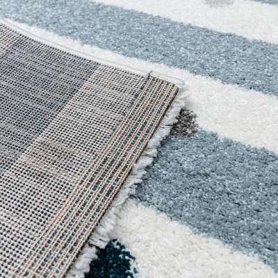 Stripes and Dots blue kilimas 120x170cm