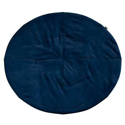 Kulatá podložka 704-29 námořnická modrá Kolekce Posh Velvet