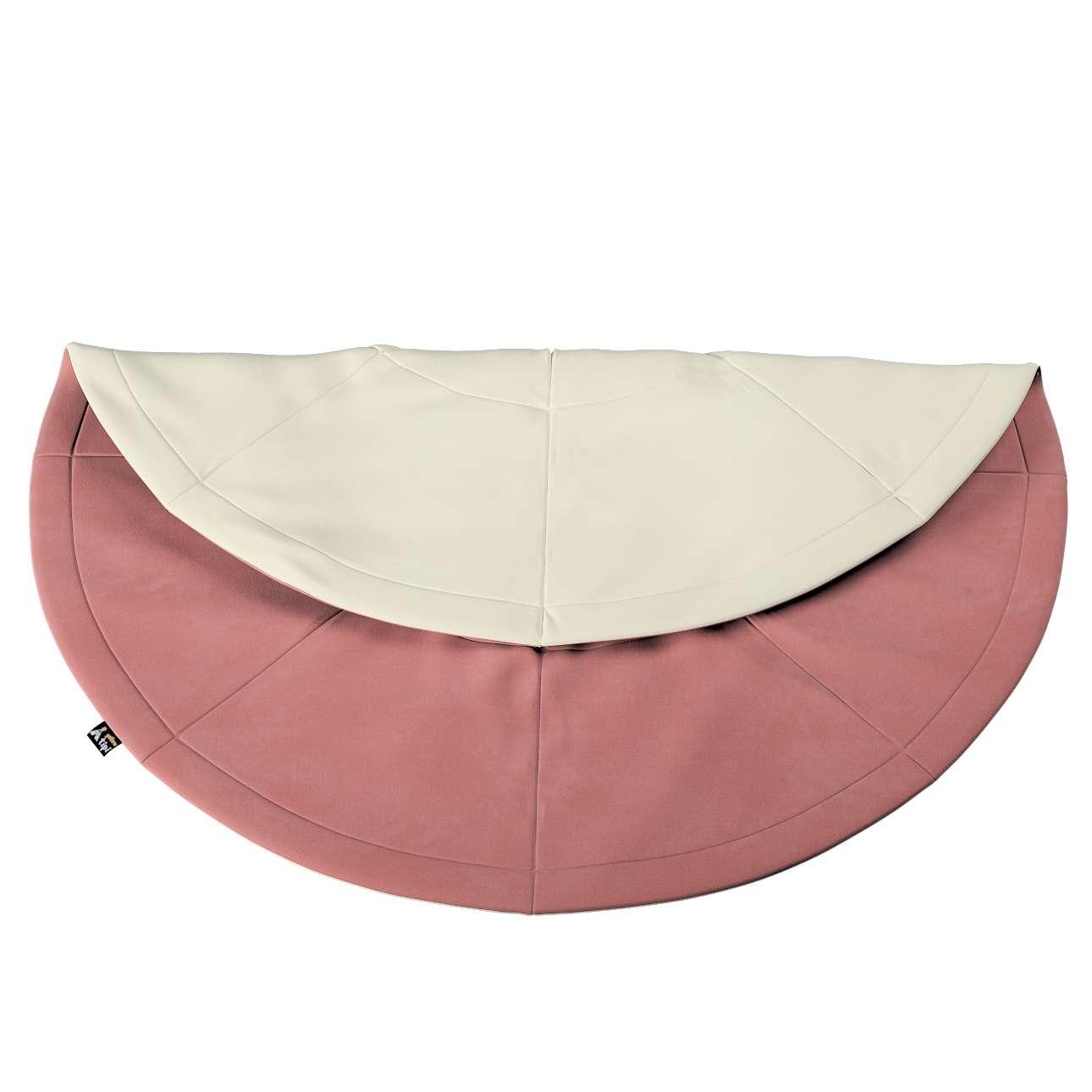 Round mat in collection Posh Velvet, fabric: 704-30