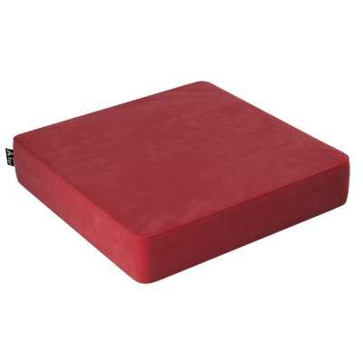 Puf Velvet Square 704-15 intenzivní červená Kolekce Posh Velvet