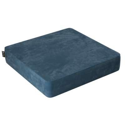 Velvet Square pufas 704-16 tamsi mėlyna Kolekcija Posh Velvet