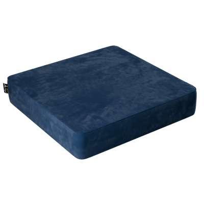 Puf Velvet Square 704-29 námořnická modrá Kolekce Posh Velvet