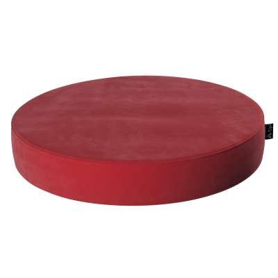 Velvet Dot pouf 704-15 cherry red Collection Posh Velvet
