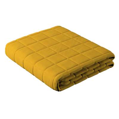 Chequered quilted bedspread 705-04 mustard Collection Lillipop