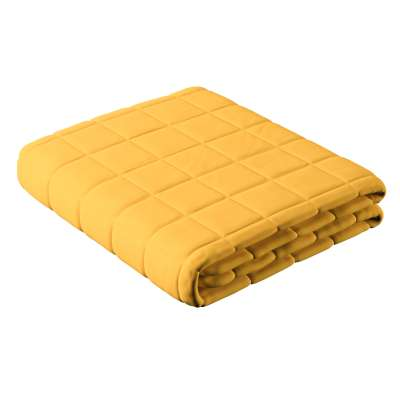 Narzuta pikowana w kratę 133-40 słoneczny żółty Kolekcja Happiness