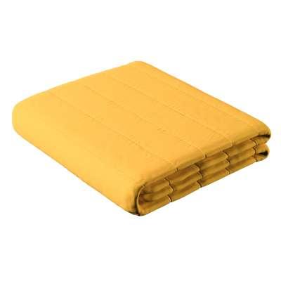 Proužkovaný prošívaný přehoz 133-40 slunečně žlutá Kolekce Happiness
