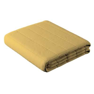 Narzuta pikowana w pasy 702-41 zgaszony żółty Kolekcja Cotton Story