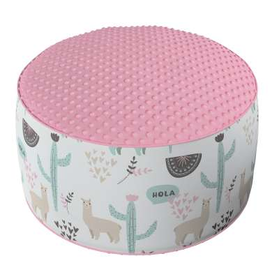 Two-coloured Coli pouf with Minky 500-01  Collection Magic Collection
