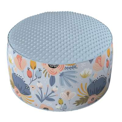 Two-coloured Coli pouf with Minky 500-05 Collection Magic Collection