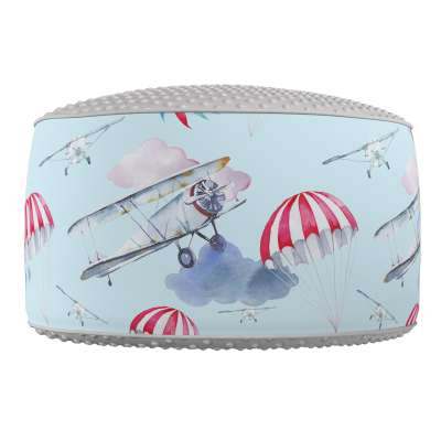 Two-coloured Coli pouf with Minky 500-10  Collection Magic Collection