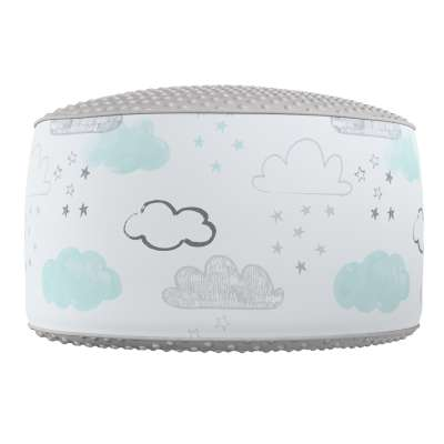 Two-coloured Coli pouf with Minky 500-14  Collection Magic Collection