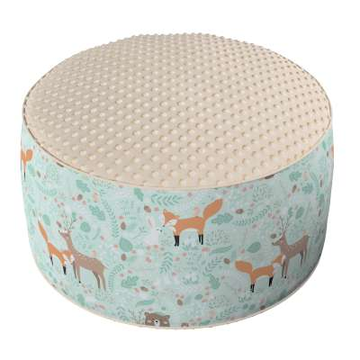 Two-coloured Coli pouf with Minky 500-15 Collection Magic Collection