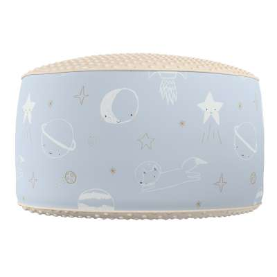 Two-coloured Coli pouf with Minky 500-16  Collection Magic Collection