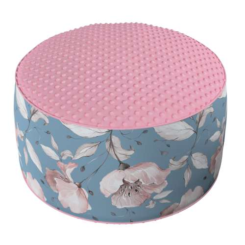 Two-coloured Coli pouf with Minky