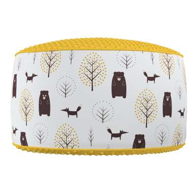 Two-coloured Coli pouf with Minky 500-19  Collection Magic Collection