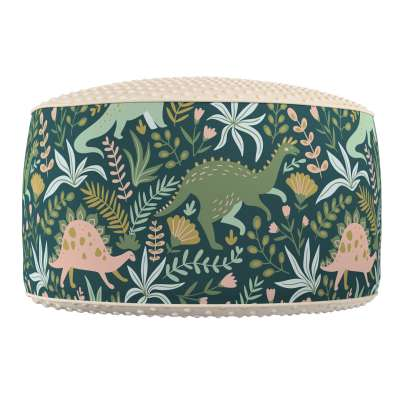Two-coloured Coli pouf with Minky 500-20  Collection Magic Collection