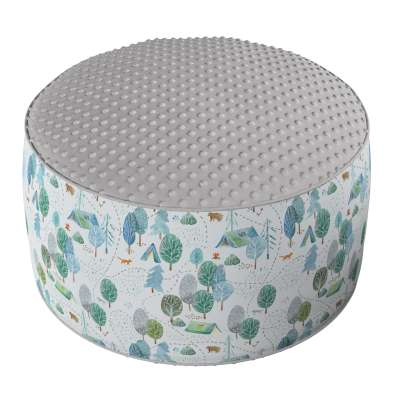 Two-coloured Coli pouf with Minky 500-21  Collection Magic Collection
