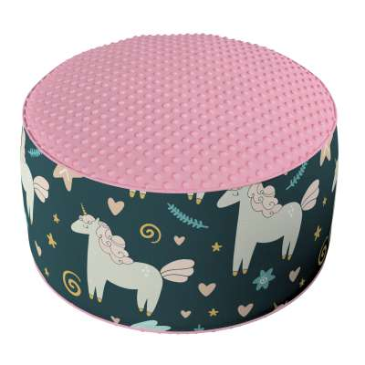 Two-coloured Coli pouf with Minky 500-43 dark blue Collection Magic Collection