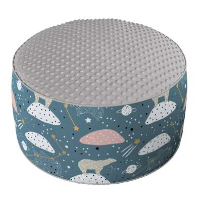 Two-coloured Coli pouf with Minky 500-45 blue Collection Magic Collection