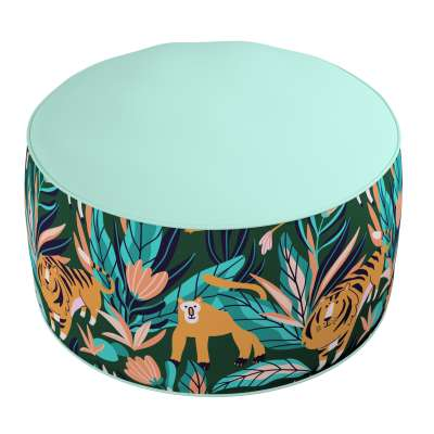 Two-coloured Coli pouf 500-42 green Collection Magic Collection