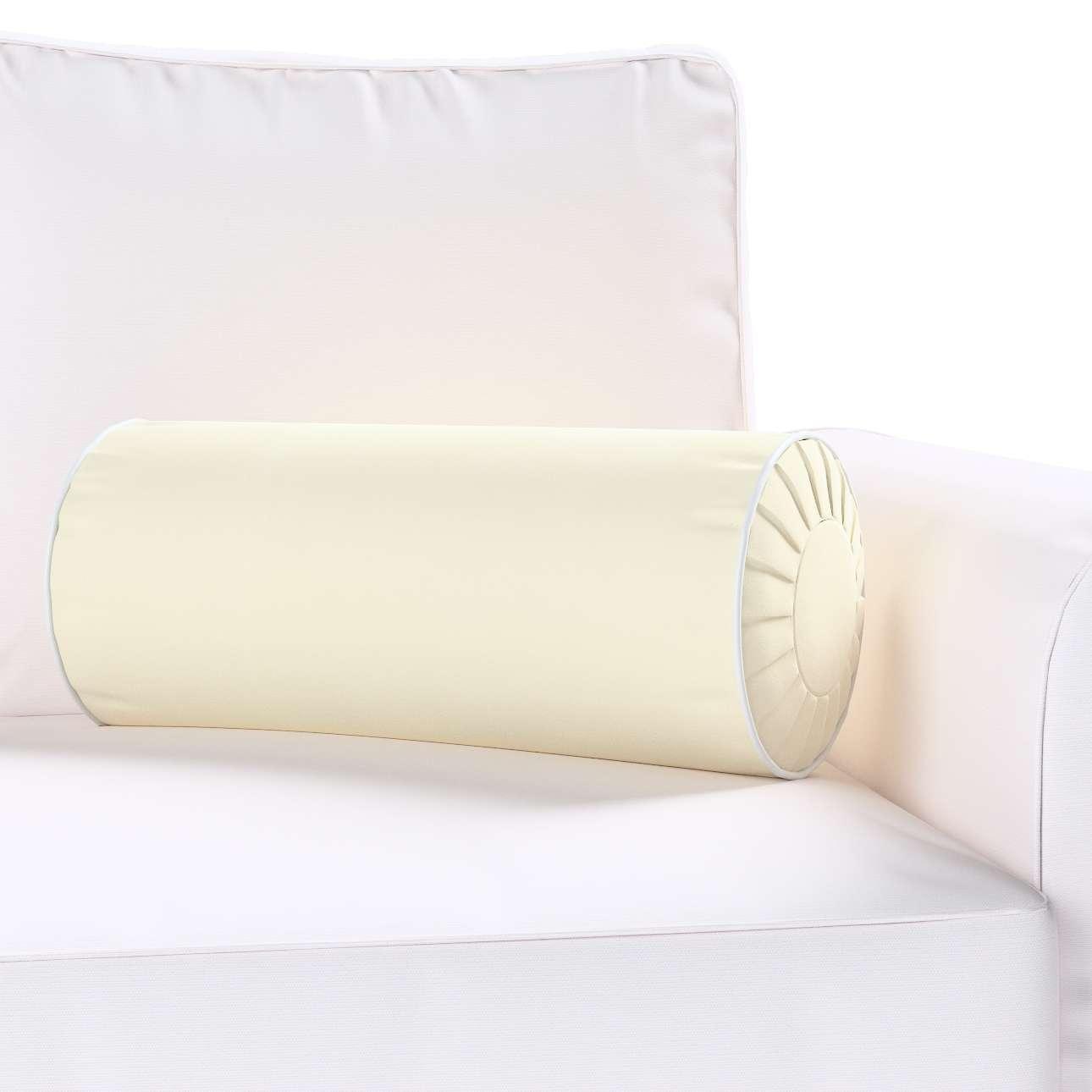 Poduszka wałek z zakładkami z lamówką w kolekcji Velvet, tkanina: 704-10